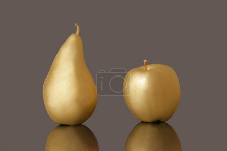 Golden pear and apple