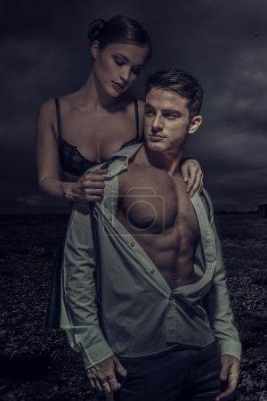 Sexy Young Couple Fashion Photo