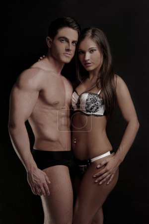 Very Hot Couple on Sexy Underwear Fashion