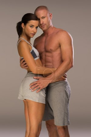 Very Seductive Couple in Body Fitness Pose