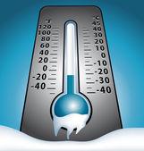 Téli hó vektor fagyasztott hőmérője