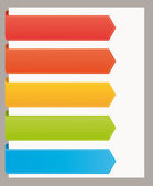 Colorful bookmarks banners for titles Vector template set