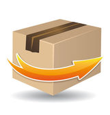 Delivery box icon Vector illustration