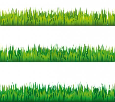 Seamless grass vector patterns