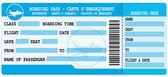 Boarding pass Blue flight coupon