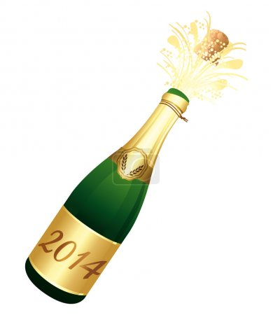 2014 Champagne bottle.