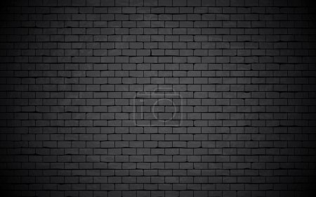 Illustration for Black grunge brick wall background. - Royalty Free Image