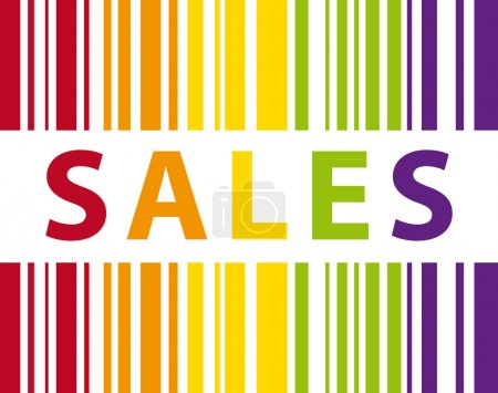 Colorful sales bar code