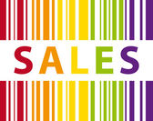 Colorful sales bar code illustration