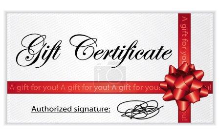 Gift certificate. Vector illustration.