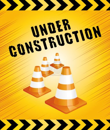 Under construction. Work in progress yellow background.