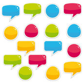 Colorful bubble speech collection