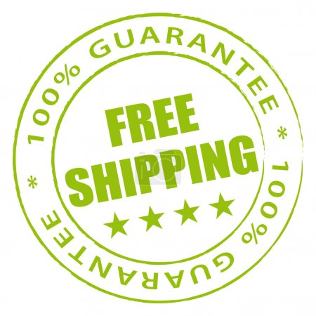Green free shipping stamp.