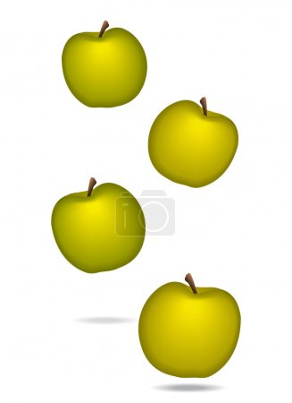 Apples icon for diet or healthcare concept. Vector illustration.