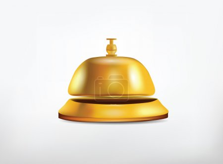 Reception Golden Bell Isolated on White
