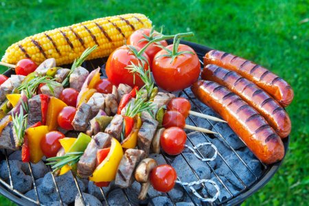 Summertime backyard barbecue cookout.