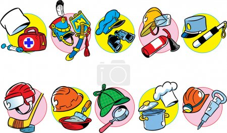 The illustration shows a wide variety of professio...