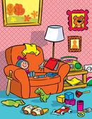 Interior nursery with toys