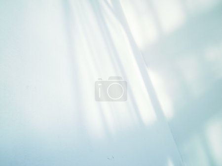 Photo for Artistic style-shadow and lighting on white wall abstract background - Royalty Free Image