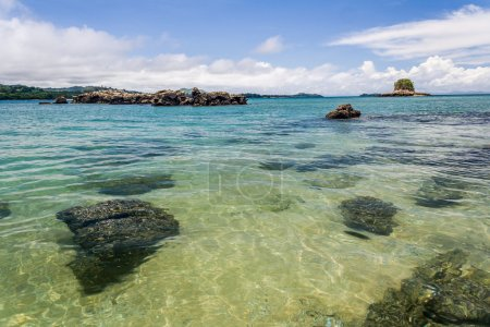 Photo for Lagoon and coral reef at Nosy Be tropical island, Madagascar - Royalty Free Image
