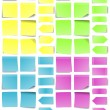 A multicolored set of abstract post-it notes....