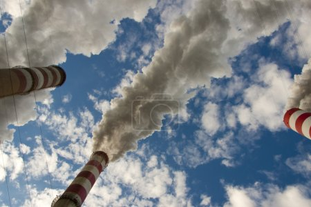 Big pollution in coal power station - Poland.