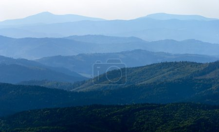 Misty horizons blue tones