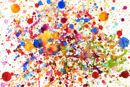 Photo for Colorful vivid water color splash background - Royalty Free Image