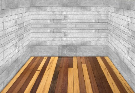 Wooden floor and marble wall room
