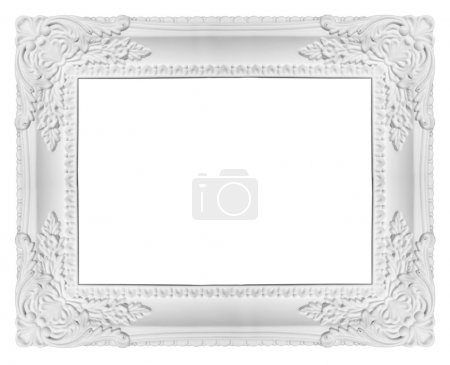 Photo for White picture frame isolated on clear background - Royalty Free Image