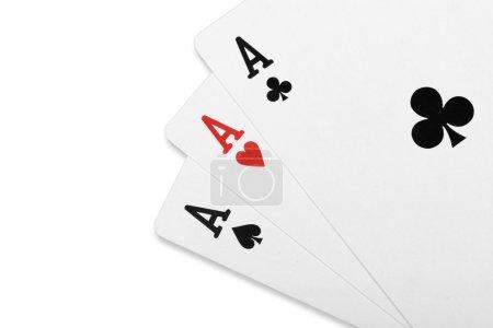 Photo pour Carte de poker trois d'un aimable As - image libre de droit