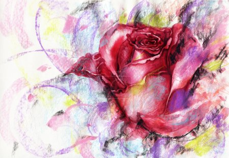 Photo for Hand painted illustration - Royalty Free Image