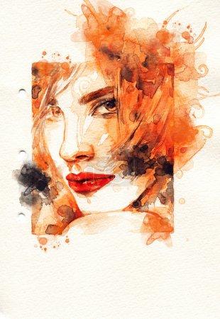 Foto de Ilustración de moda pintado a mano - Imagen libre de derechos
