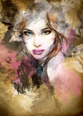 Photo for Hand painted fashion illustration - Royalty Free Image