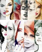 "Постер, картина, фотообои ""красивая женщина."""