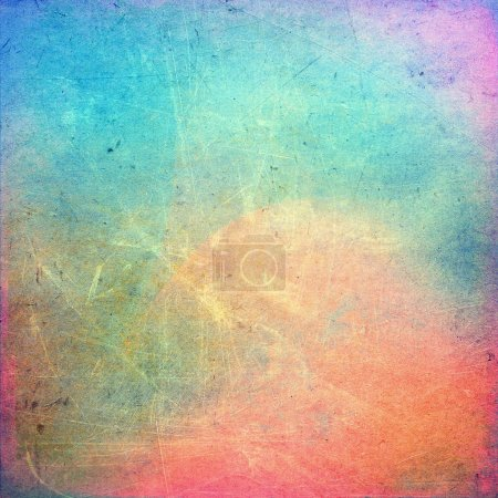 Photo for Colorful scratched vintage background - Royalty Free Image