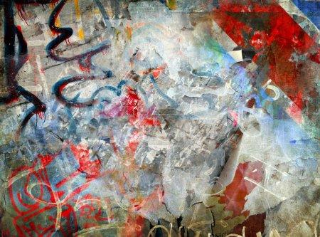 Photo pour Fond graffiti, illustration grunge - image libre de droit