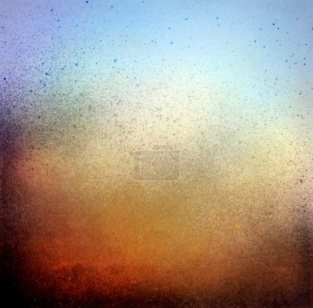 Photo for Grunge splatter paint background, blue and brown color texture - Royalty Free Image