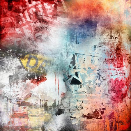 Photo pour Abstract grunge fond coloré - image libre de droit