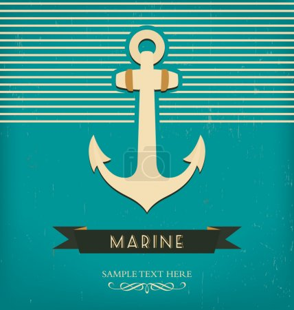 Nautical anchor - vintage design