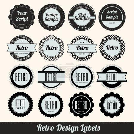 Ilustración de Etiquetas de diseño retro - Imagen libre de derechos