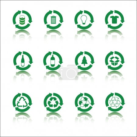 Illustration for Recycle icon set - Royalty Free Image
