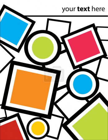 Illustration pour Carrés, cercles et cadres Contexte - image libre de droit