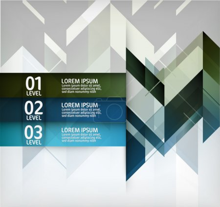 Modern Layout Design Vector Illustration with Numbers