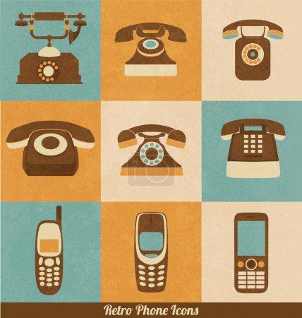 Retro Phone Icons