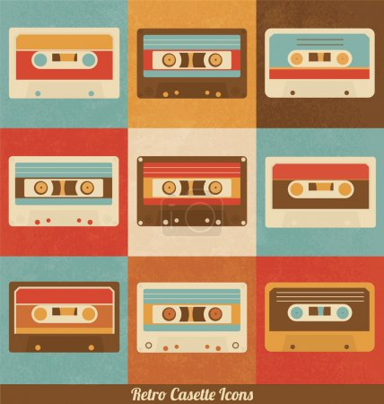 Retro Cassette Icons