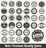 Retro Premium Quality Labels