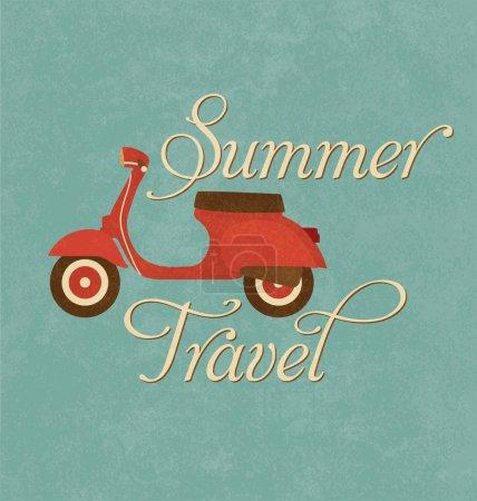 Summer Travel Design - Red Scooter