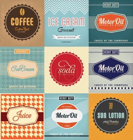 Vintage Label Design Set
