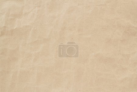 Photo for Light brown crumpled paper texture, background, backdrop - Royalty Free Image